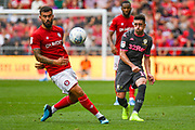 Pablo Hernandez of Leeds United (19) passes the ball during the EFL Sky Bet Championship match between Bristol City and Leeds United at Ashton Gate, Bristol, England on 4 August 2019.