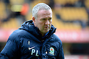 Blackburn Rovers manager Paul Lambert during the Sky Bet Championship match between Wolverhampton Wanderers and Blackburn Rovers at Molineux, Wolverhampton, England on 9 April 2016. Photo by Alan Franklin.