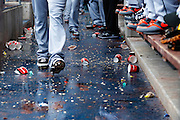 PHILADELPHIA, PA - JUNE 3: General view of a dirty floor in the Miami Marlins dugout during the game against the Philadelphia Phillies at Citizens Bank Park on June 3, 2012 in Philadelphia, Pennsylvania. The Marlins won 5-1. (Photo by Joe Robbins) *** Local Caption ***