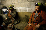 Gwyn Evans, 48, (left) and Tony Berg, 58, (right) two of the miners working to restore Unity Mine are portrayed in the early morning before starting their shift into the mine, on Wednesday, Apr. 11, 2007, in Cwmgwrach, Vale of Neath, South Wales. The time is ripe again for an unexpected revival of the coal industry in the Vale of Neath due to the increasing prize and diminishing reserves of oil and gas, the uncertainties of renewable energy sources, and the technological advancement in producing energy from coal while limiting emissions of pollutants, has created the basis for valuable investment opportunities and a possible alternative to the latest energy crisis. Unity Mine, in particular, has started a pioneering effort to revive the coal industry in the area, reopening after more than 8 years with the intent of exploiting the large resources still buried underground. Coal could be then answer to both, access to cheaper and paradoxically greener energy and a better and safer choice than nuclear energy as a major supply for the decades to come. It is estimated that coal reserves in Wales amount to over 250 million tonnes, or the equivalent of at least 50 years of energy supply, while the worldwide total coal could last for over 200 years as a viable resource compared to only a few decades of oil and natural gas.