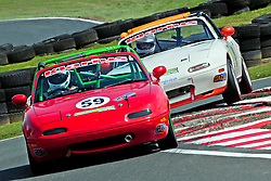 Ben Robinson heads Richard Breland at Oulton Park