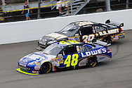 June 14, 2009: 48 Jimmie Johnson and 39 Ryan Newman at the Life Lock 400 race, Michigan International Speedway, Brooklyn, MI.