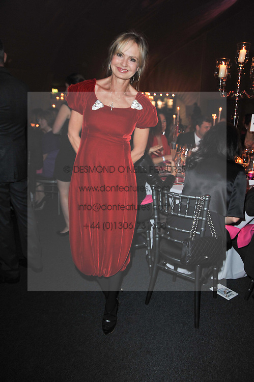 COUNTESS MAYA VON SCHOENBURG at the KIDS 40th Birthday Gala Dinner held in the Boiler House at Battersea Power Station, London on 10th March 2011.