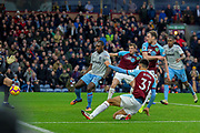 Goal Burnley forward Dwight McNeil (31) scores a goal to make it 2-0 during the Premier League match between Burnley and West Ham United at Turf Moor, Burnley, England on 30 December 2018.