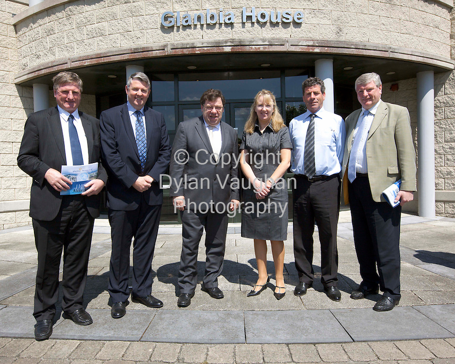 2/6/2009.Pictured at a recent visit by the Taoiseach Brian Cowen to Glanbia House in Kilkenny was from left Bobby Aylward TD, Jim Bergin, CEO - Glanbia Ingredients Ireland, An Taoiseach Brian Cowen TD, Siobhan Talbot, Glanbia Group Finance Director Designate, Liam Herlihy, Glanbia Chairman and Liam Alyward MEP..Picture Dylan Vaughan.
