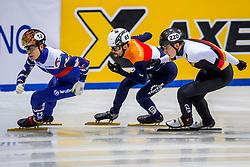 12-01-2018 DUI: ISU European Short Track Championships 2018 day 1, Dresden<br /> Semen Elistratov RUS #12, Itzhak de Laat NED #65