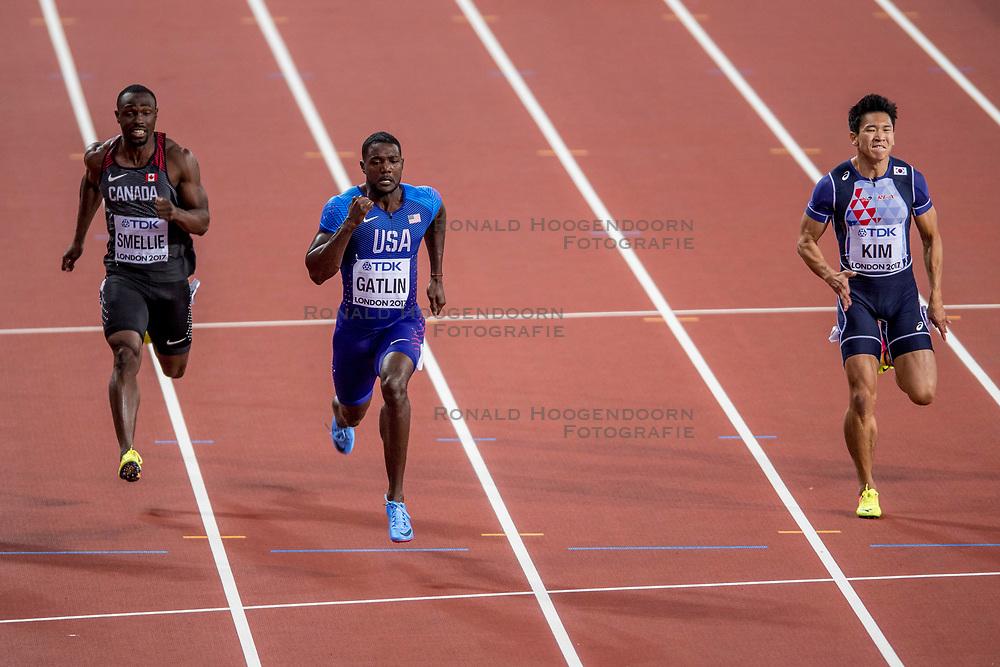 04-08-2017 IAAF World Championships Athletics day 1, London<br /> Justin Gatlin USA 100 m