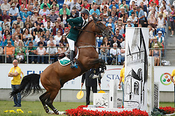 Lynch Denis, (IRL), All Star<br /> Individual Final Competition<br /> FEI European Championships - Aachen 2015<br /> © Hippo Foto - Dirk Caremans<br /> 23/08/15