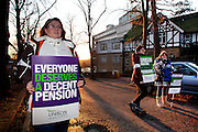 Unison members on the TUC Day of Action 30th November, Sheffield Health & Social Care HQ.