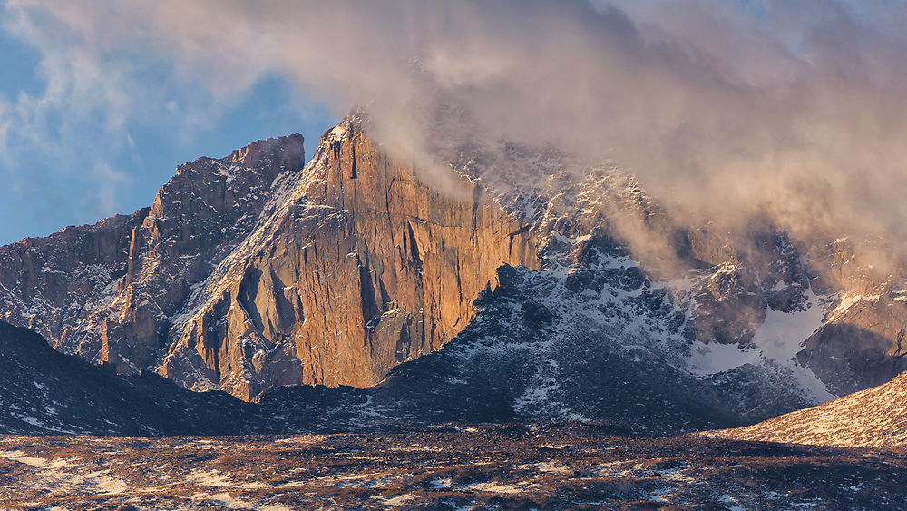 This peak is located in Rocky Mountain National park at it was taken at Sunrise.<br />