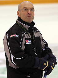 Head Coach Mats Waltin at practice of Slovenian national team at Hockey IIHF WC 2008 in Halifax,  on May 01, 2008 in Forum Centre, Halifax, Canada.  (Photo by Vid Ponikvar / Sportal Images)