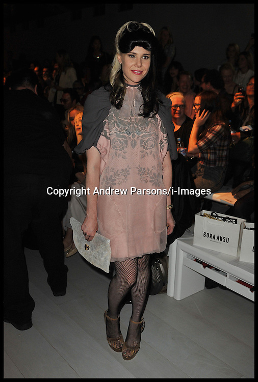 Singer Kate Nash on the front row at  Bora Aksu Spring/Summer 2013 show on the first day of the London 2012 Fashion Week, London, Friday September 14, 2012 Photo Andrew Parsons/i-Images..All Rights Reserved ©Andrew Parsons/i-Images