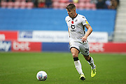 Swansea City defender Jake Bidwell (24) during the EFL Sky Bet Championship match between Wigan Athletic and Swansea City at the DW Stadium, Wigan, England on 2 November 2019.