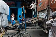Street life in central Calcutta (Kolkata),West Bengal