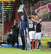 Dundee captain Kevin Thomson goes off injured and is replaced by Paul McGowan - Dundee United v Dundee at Tannadice<br /> - Ladbrokes Premiership<br /> <br />  - © David Young - www.davidyoungphoto.co.uk - email: davidyoungphoto@gmail.com