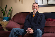 Nick Rhoades at his house in Waterloo, Iowa on Thursday, November 7, 2013.