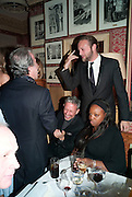 PATRICK COX; LORD EDWARD SPENCER-CHURCHILL; PAT MCGRATH, Graydon Carter hosts a diner for Tom Ford to celebrate the London premiere of ' A Single Man' Harry's Bar. South Audley St. London. 1 February 2010