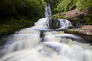 The Upper McLean Falls on the Tautuku River in Catlin Conservation Park, Otago, New Zealand.