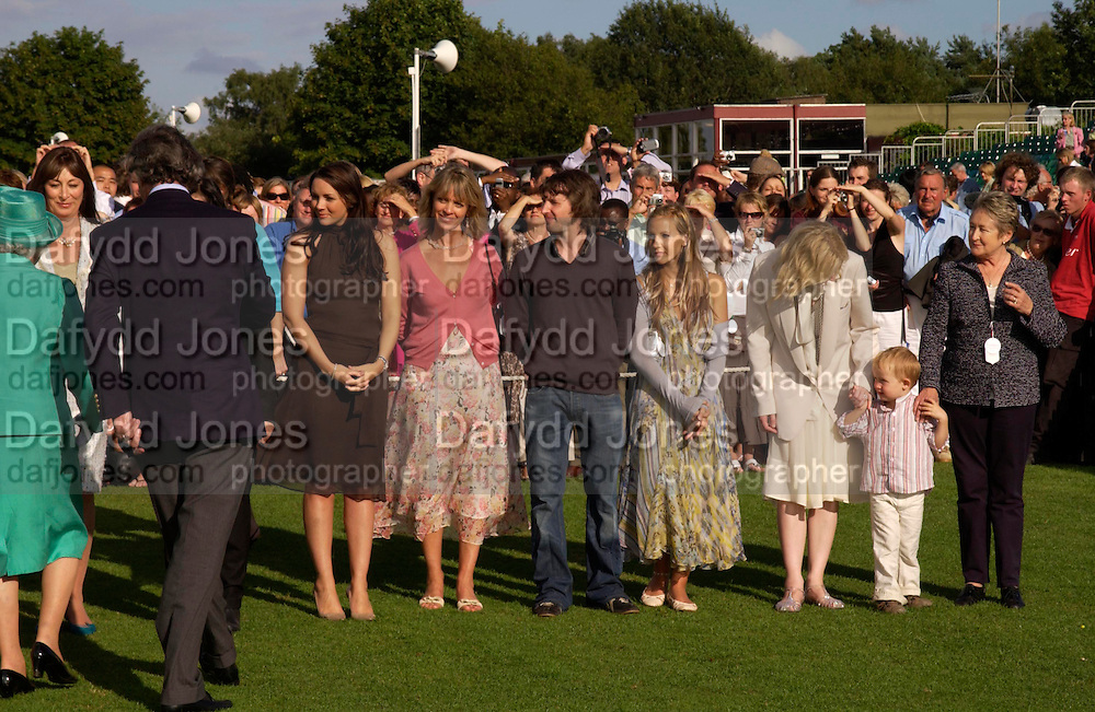 The Queen, Angelica Huston, Martine McCutcheon, Sabrina Guinness, James Blunt, Camilla Boles, Cate Blanchett and her baby son Roman Upton. Cartier International Day at Guards Polo Club, Windsor Great Park. July 24, 2005. ONE TIME USE ONLY - DO NOT ARCHIVE  © Copyright Photograph by Dafydd Jones 66 Stockwell Park Rd. London SW9 0DA Tel 020 7733 0108 www.dafjones.com