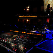 Monitor soundboard for the show