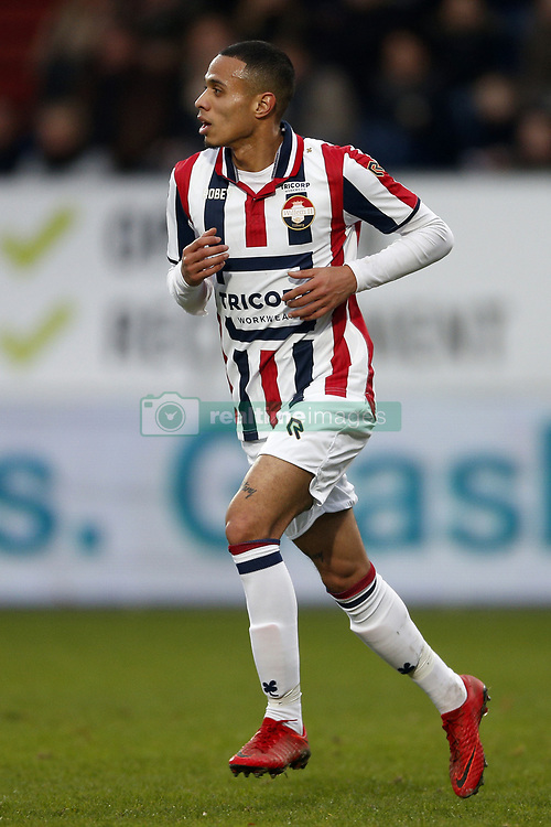 Damil Dankerlui of Willem II during the Dutch Eredivisie match between Willem II Tilburg and FC Groningen at Koning Willem II stadium on January 21, 2018 in Tilburg, The Netherlands