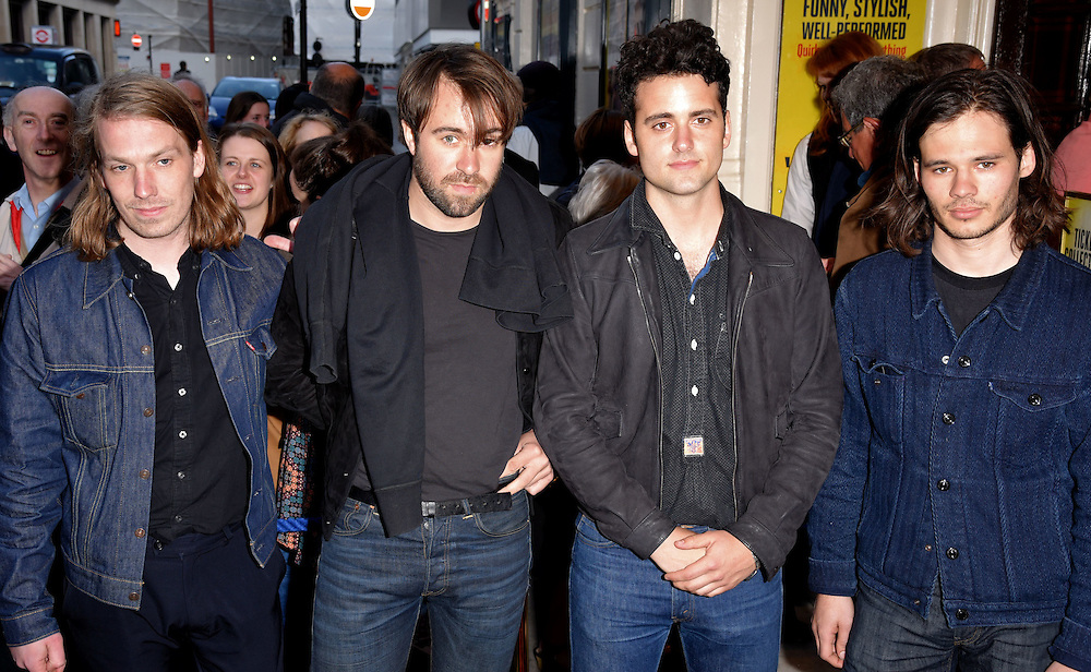 The Vaccines - Arni Armason, Justin Hayward-Young, Freddie Cowan and Pete Robertson attend Sunny Afternoon Gala Performance at The Harold Pinter Theatre, Panton Street, London on Monday 18 May 2015