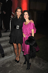 Left to right, DASHA ZHUKOVA and MOLLIE DENT-BROCKLEHURST at the annual Serpentine Gallery Summer Party in Kensington Gardens, London on 9th September 2008.