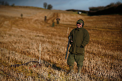 UK ENGLAND GRANTHAM 15DEC11 - A gun smiles during the pheasant shooting at the Belvoir Castle Estate in Leicestershire, England...jre/Photo by Jiri Rezac..© Jiri Rezac 2011