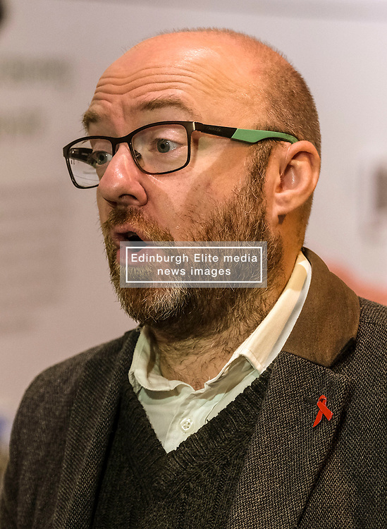 Patrick Harvie, Monday 2nd December 2019<br /> <br /> Pictured: Scottish Greens Co-Leader Patrick Harvie MSP visits the UK's largest onshore windfarm where he called for the devolution of energy policy to help Scotland tackle the climate crisis.<br /> <br /> Alex Todd | Edinburgh Elite media