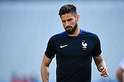 PARIS, FRANCE - JUNE 09: (CHINA OUT) <br /> <br /> Olivier Giroud of France attends a training session on the eve of the beginning of the Euro 2016 European football championships football match against Romania at Stade de France stadium on June 9, 2016 in Saint-Denis near Paris, France. <br /> ©Exclusivepix Media