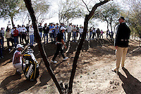 2 February 2007:  Will MacKenzie hit the ball way off the course into the dirt on the 6th hole  during the second round at the FBR Open in Phoenix, AZ. .