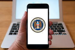 NSA, National Security Agency home page on iPhone smart phone mobile phone