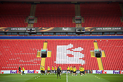LIVERPOOL, ENGLAND - Wednesday, April 13, 2016: Borussia Dortmund players during a training session at Anfield ahead of the UEFA Europa League Quarter-Final 2nd Leg match against Liverpool. (Pic by David Rawcliffe/Propaganda)