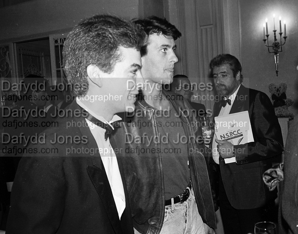 Baron Lorne Thyssen-Bornemisza and Tim Jeffries. . Leila's evening for charity. Grosvenor House. 8 June 1987.   © Copyright Photograph by Dafydd Jones 66 Stockwell Park Rd. London SW9 0DA Tel 020 7733 0108 www.dafjones.com