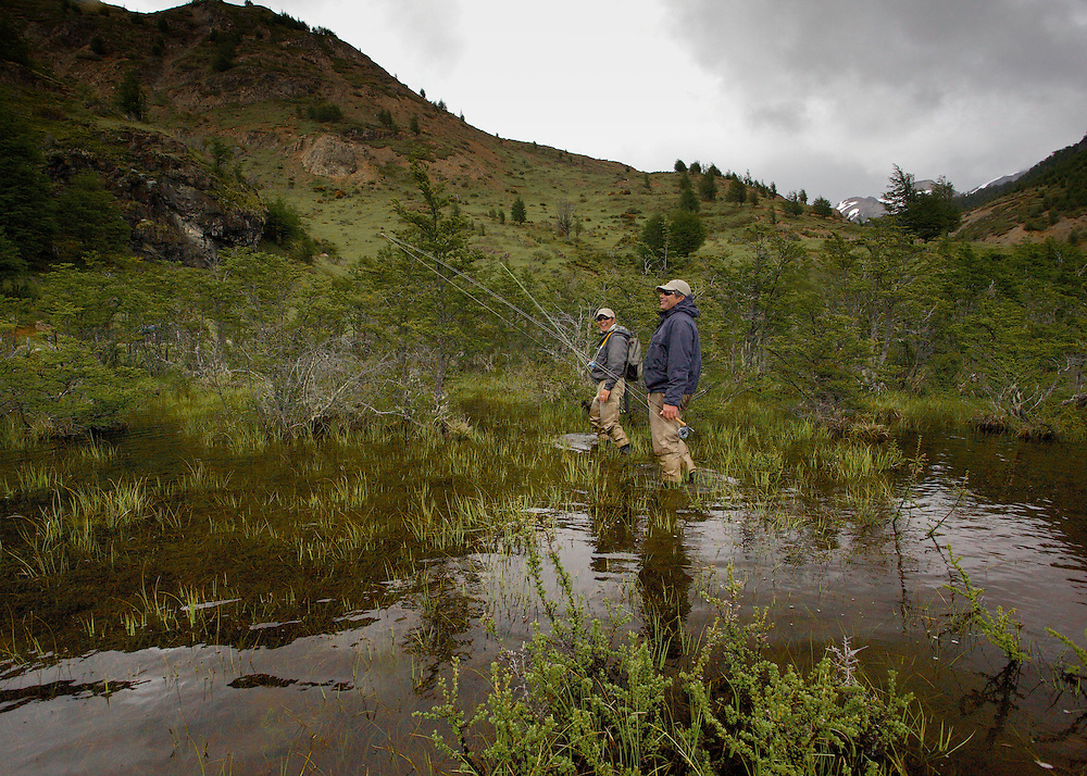 A flooded river valley creates a unique habitat for trout - and adventurous fishermen.