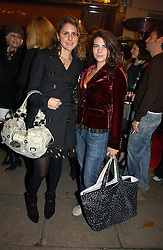Left to right, NIKKI PENNIE and MARTHA FREUD at a party to launch Pearl Lowe's fashion held at The Cross. 141 Portland Road, Holland Park, W11 on 30th October 2006.<br /><br />NON EXCLUSIVE - WORLD RIGHTS