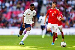 Marcus Rashford of England is challenged by Strahil Popov of Bulgaria - Rogan/JMP - 07/09/2019 - FOOTBALL - Wembley Stadium - London, England - England v Bulgaria - UEFA Euro 2020 Qualifiers.