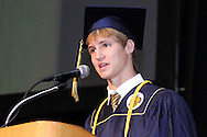 Class president Zachary Harmony speaks during the Oakwood High School 88th annual commencement at the Dayton Convention Center in downtown Dayton, Monday, June 4, 2012.