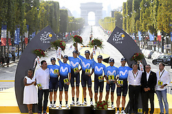 July 29, 2018 - Paris Champs-Elysees, France - PARIS CHAMPS-ELYSEES, FRANCE - JULY 29 : Astana Team  during stage 21 of the 105th edition of the 2018 Tour de France cycling race, a stage of 116 kms between Houilles and Paris Champs-Elysees on July 29, 2018 in Paris Champs-Elysees, France, 29/07/18  (Credit Image: © Panoramic via ZUMA Press)