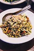 Tea ledf salad (Laphet Thoke) at 'Feel Myanmar Food' restaurant. Yangon, Myanmar