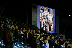 Leeds fans join in a minutes applause in memory of former Leeds United chairman Leslie Silver who passed away on 29th December 2014 - Photo mandatory by-line: Rogan Thomson/JMP - 07966 386802 - 20/01/2015 - SPORT - FOOTBALL - Leeds, England - Elland Road Stadium - Leeds United v Bournemouth - Sky Bet Championship.