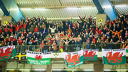 BRUSSELS, BELGIUM - Tuesday, October 15, 2013: Wales supporters during the 2014 FIFA World Cup Brazil Qualifying Group A match against Belgium at the Koning Boudewijnstadion. (Pic by David Rawcliffe/Propaganda)