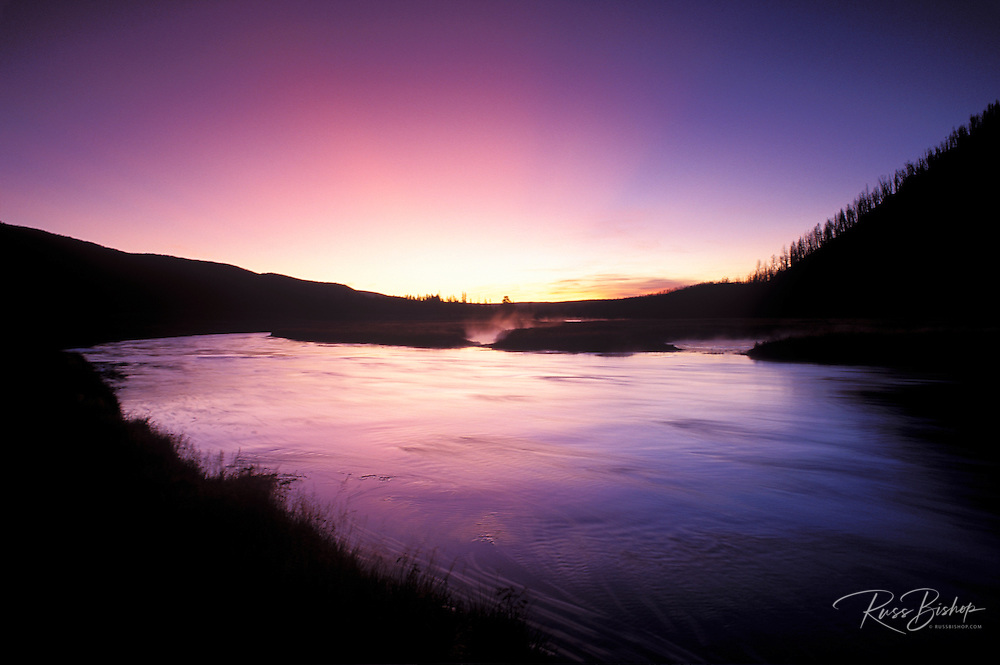 Dawn light on the Madison River, Yellowstone National Park, Wyoming