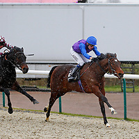 King Bertie and Jamie Spencer winning the 2.00 race