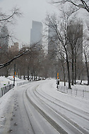 New York. Central park under the snow/ Central park sous la neige.