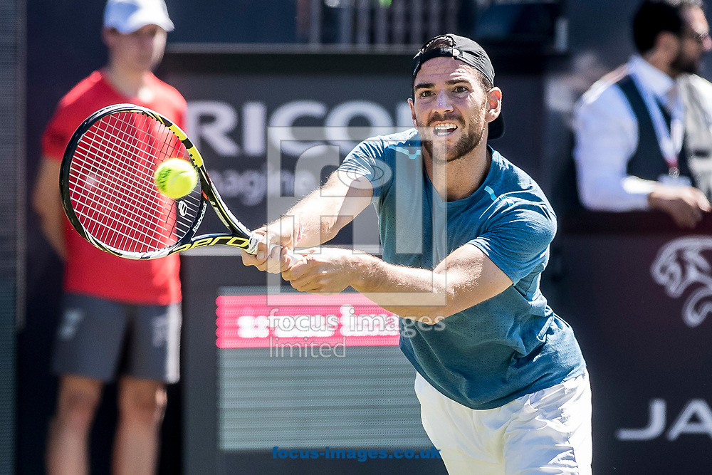 Adrian Mannarino (FRA) on day three of the Ricoh Open Tennis Tournament at the Autotron, Rosmalen, Netherlands.<br /> Picture by Joep Joseph Leenen/Focus Images Ltd +316 5261929<br /> 14/06/2017<br /> ***NETHERLANDS OUT***