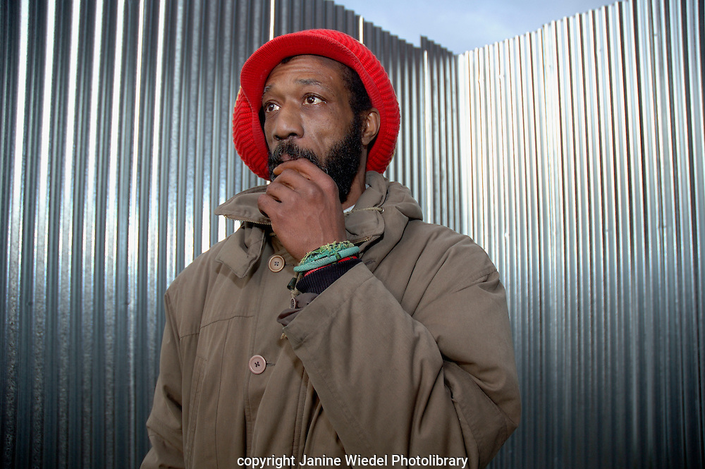 George James co-ordinator of Rastafarian Community Centre in St Agnes Place after eviction of the properties in November 2005.