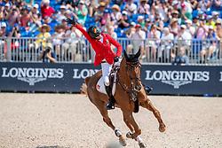 BLUM Simone (GER), DSP Alice<br /> Tryon - FEI World Equestrian Games™ 2018<br /> FEI World Individual Jumping Championship<br /> Third cometition - Round B<br /> 3. Qualifikation Einzelentscheidung 1. Runde<br /> 23. September 2018<br /> © www.sportfotos-lafrentz.de/Stefan Lafrentz