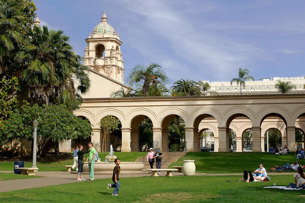 back side of Prado Theater, Balboa Park, San Diego, California, United States of America