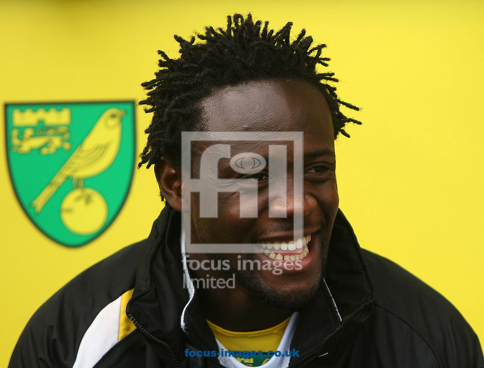Picture by Paul Chesterton/Focus Images Ltd +44 7904 640267.09/02/2013.Kei Kamara of Norwich before the Barclays Premier League match at Carrow Road, Norwich.